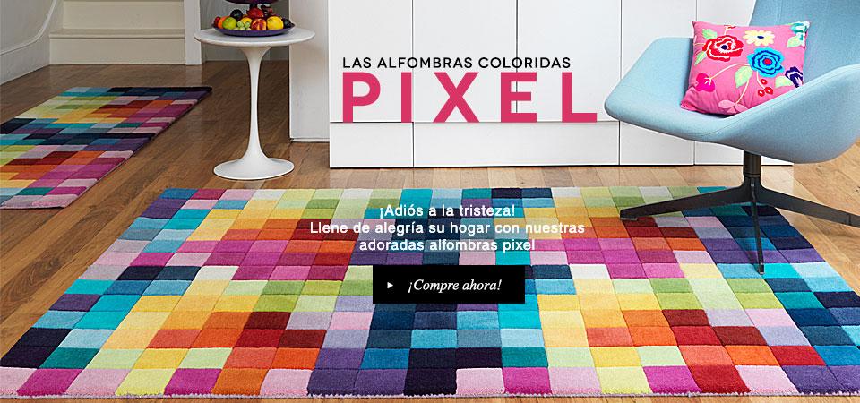 Las coloridas alfombras pixel