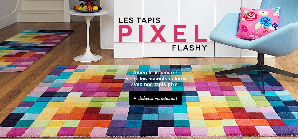 Les tapis pixel flashy de benuta