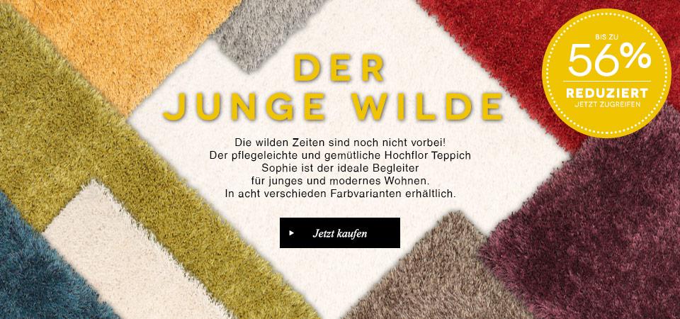 benuta Hochflor Teppich Sophie - bis 45% reduziert