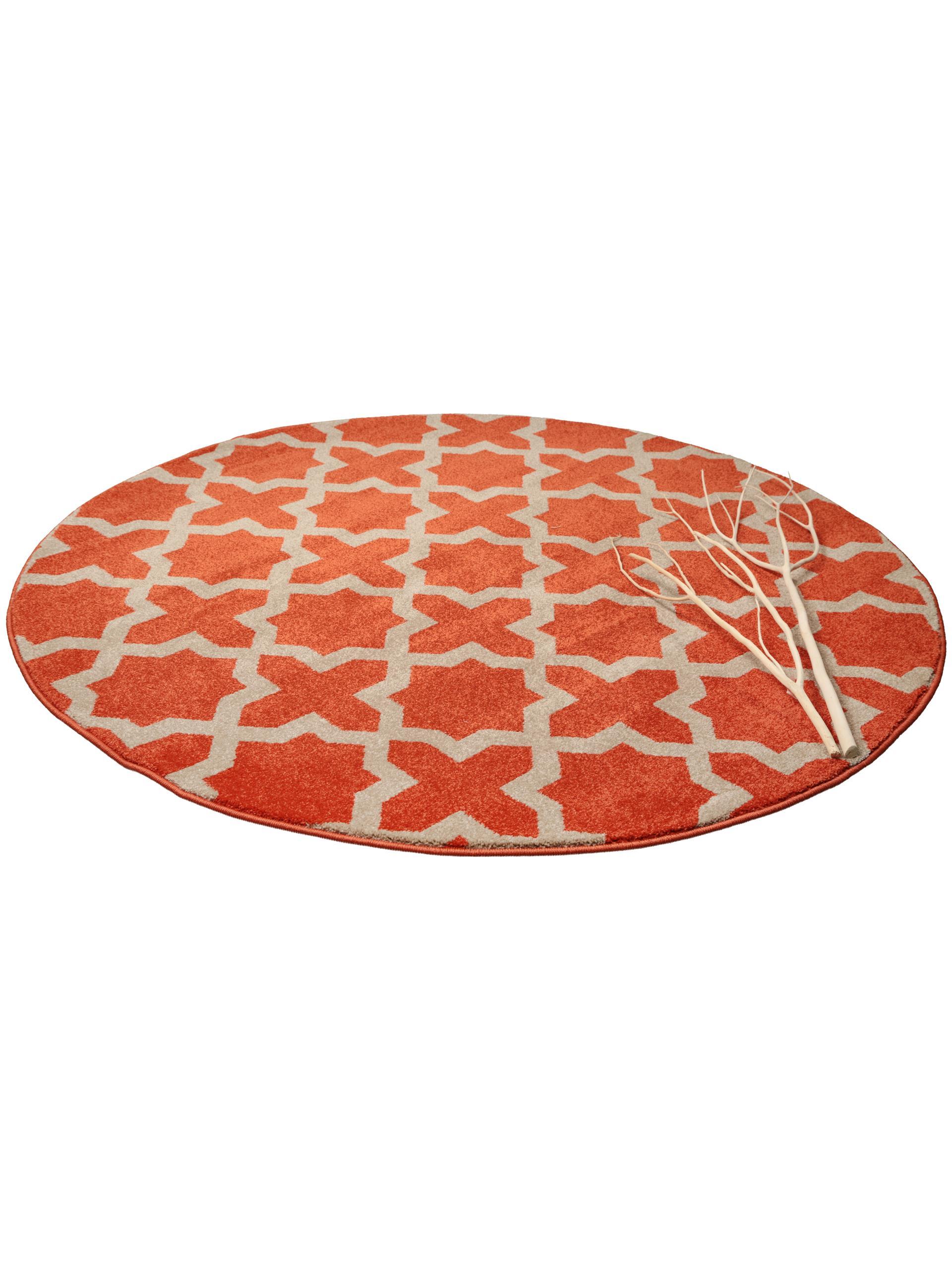benuta teppich rund arabesque orange 60002845 geometrisch ornament rund esszimme ebay. Black Bedroom Furniture Sets. Home Design Ideas