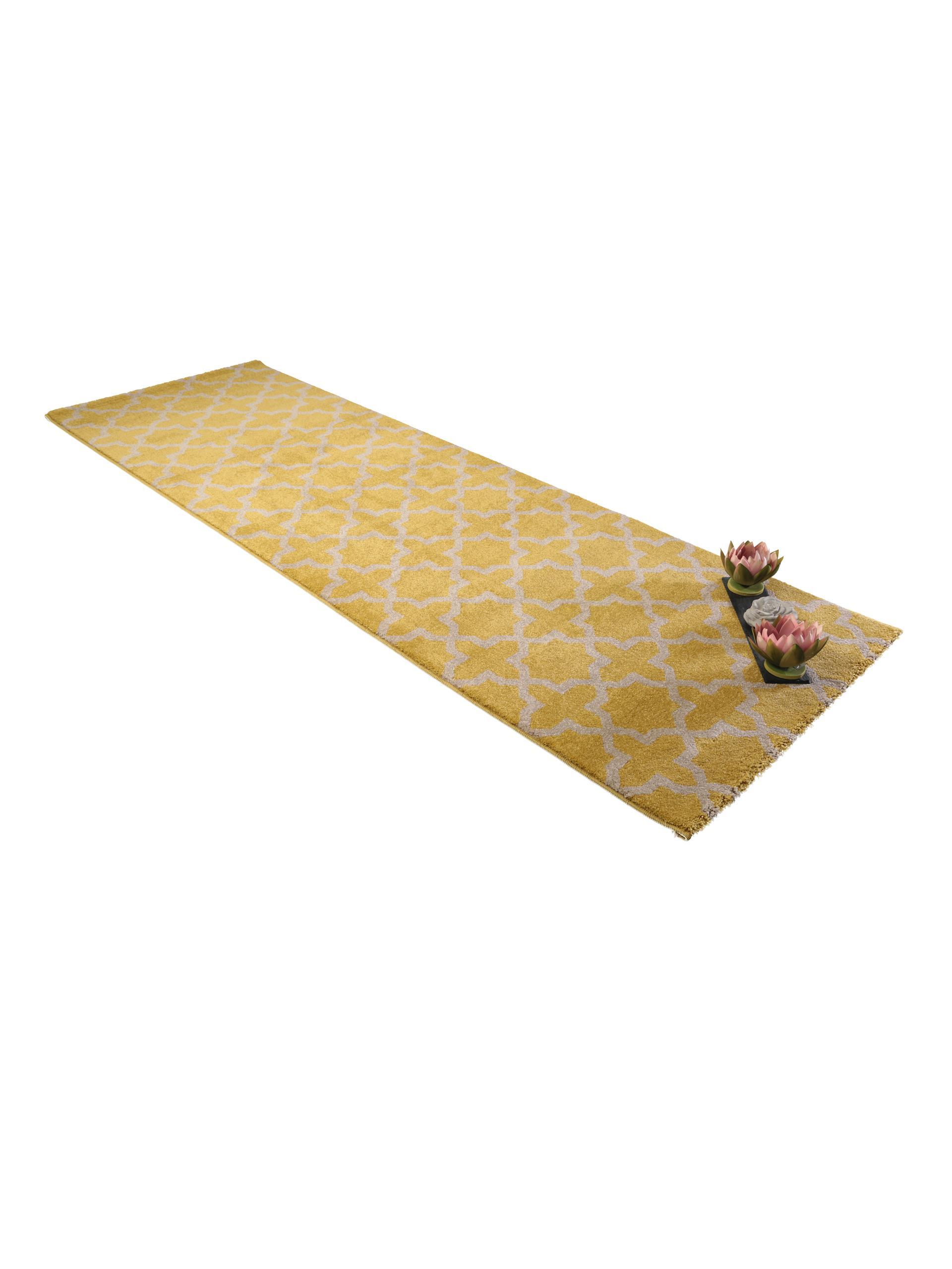 benuta Teppich Läufer Arabesque Gelb 60002847 Geometrisch