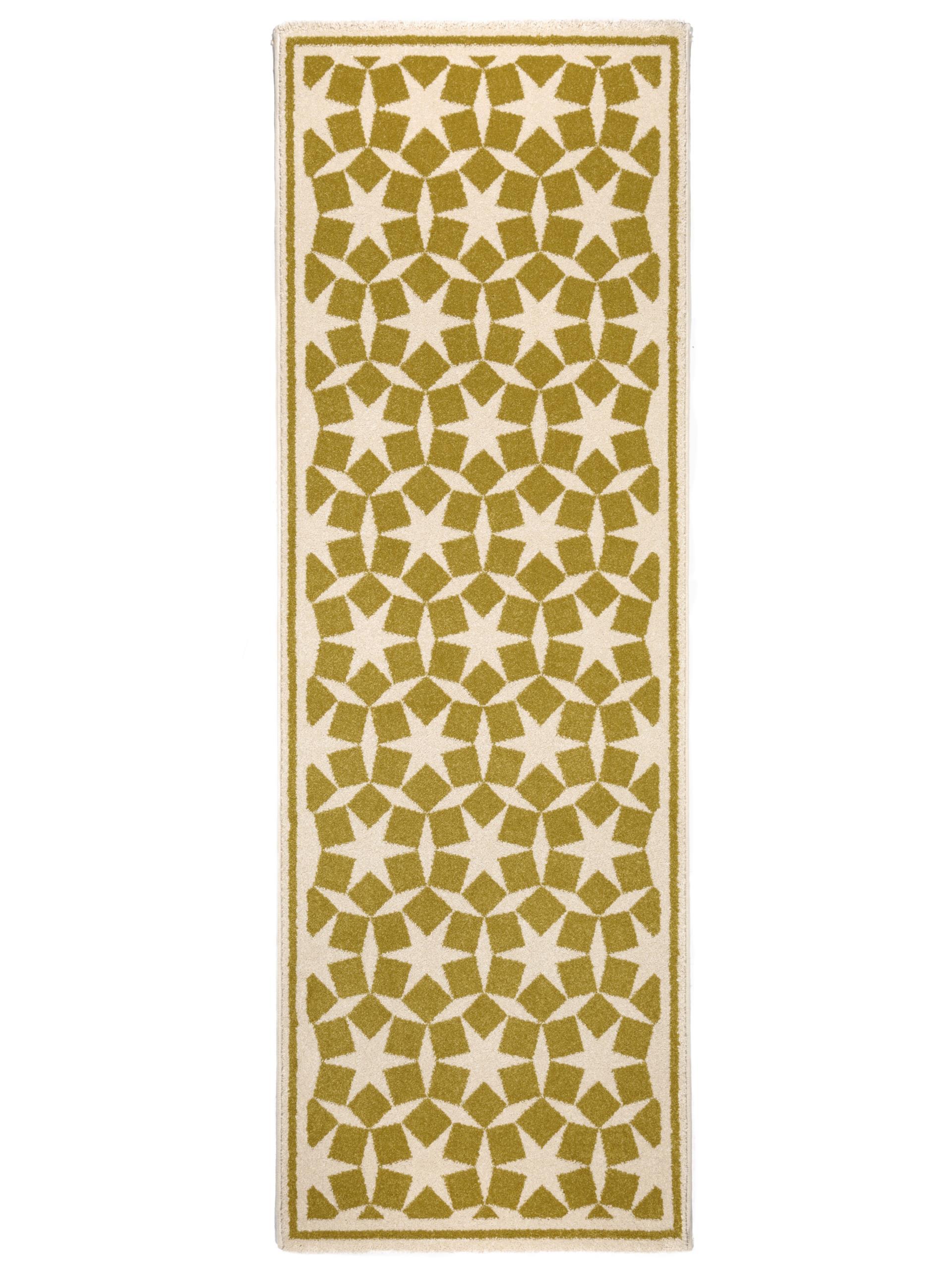 benuta teppich l ufer anis gelb 60002863 geometrisch sterne l ufer flur diele ebay. Black Bedroom Furniture Sets. Home Design Ideas