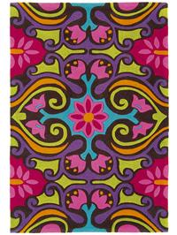Tapis Harlequin Scroll