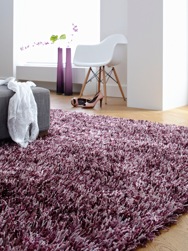 benuta hochflor shaggy teppich ocean violett lila neu ovp. Black Bedroom Furniture Sets. Home Design Ideas