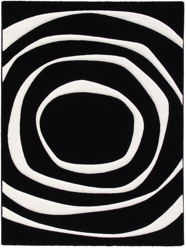 benuta Designer Teppich Elements Kreise schwarzweiß  eBay