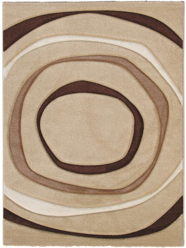 benuta Designer Teppich Elements Kreise beige braun  eBay