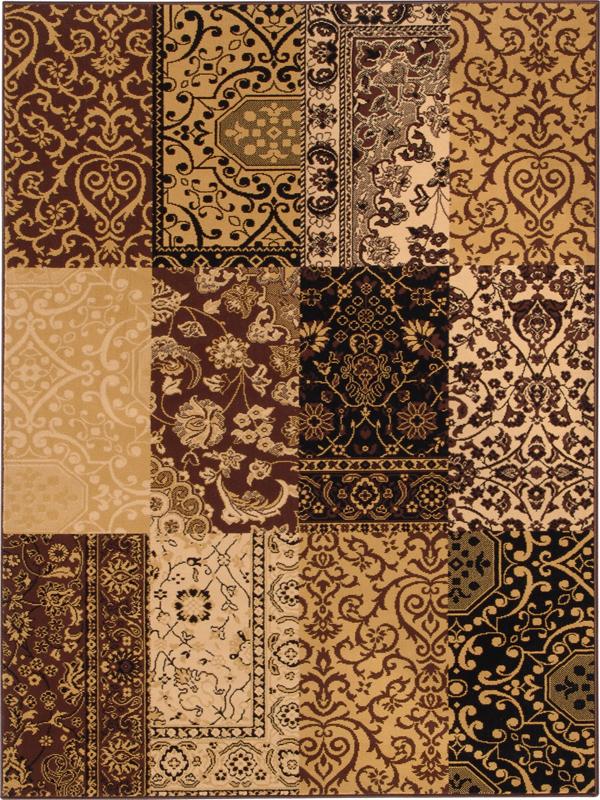 benuta velours teppich patchwork braun. Black Bedroom Furniture Sets. Home Design Ideas
