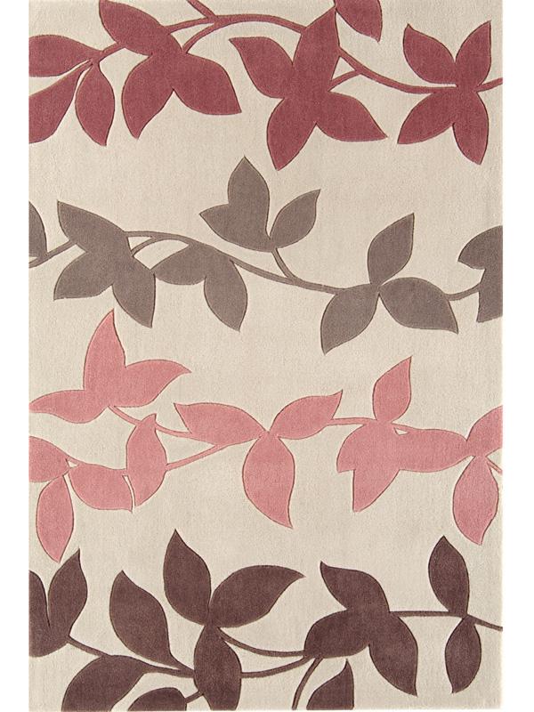 benuta moderner designer teppich harlequin efeu bl tter beige rosa neu ovp ebay. Black Bedroom Furniture Sets. Home Design Ideas