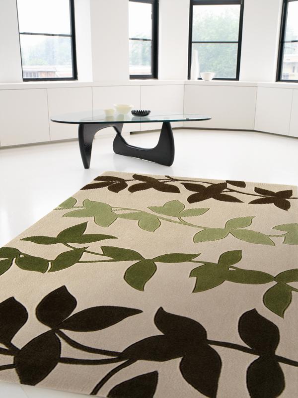 benuta Moderner Designer Teppich HARLEQUIN EfeuBlätter
