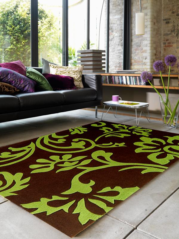 benuta Designer Teppich EDEN Blumen braungrün NEU&OVP  eBay