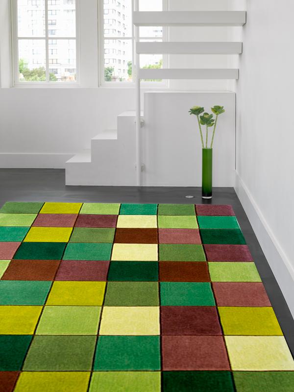 benuta Designer Teppich EDEN Quadrate grün NEU&OVP  eBay
