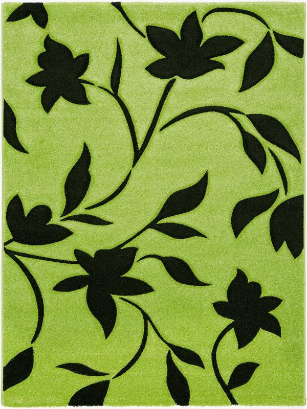 benuta designer teppich eden 3d gr n schwarz blumen bl tter ebay. Black Bedroom Furniture Sets. Home Design Ideas