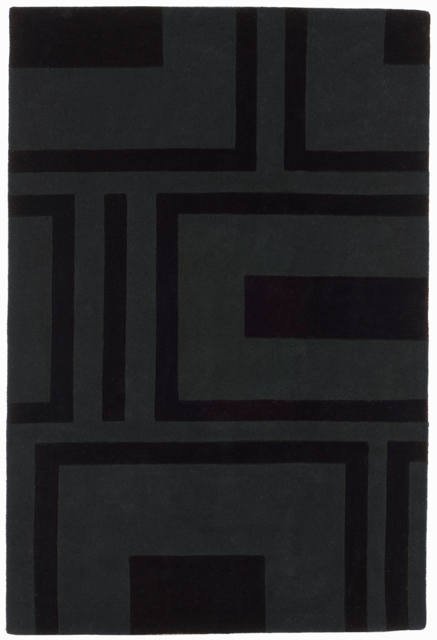 benuta Moderner Designer Teppich MATRIX Wolle grau NEU&OVP