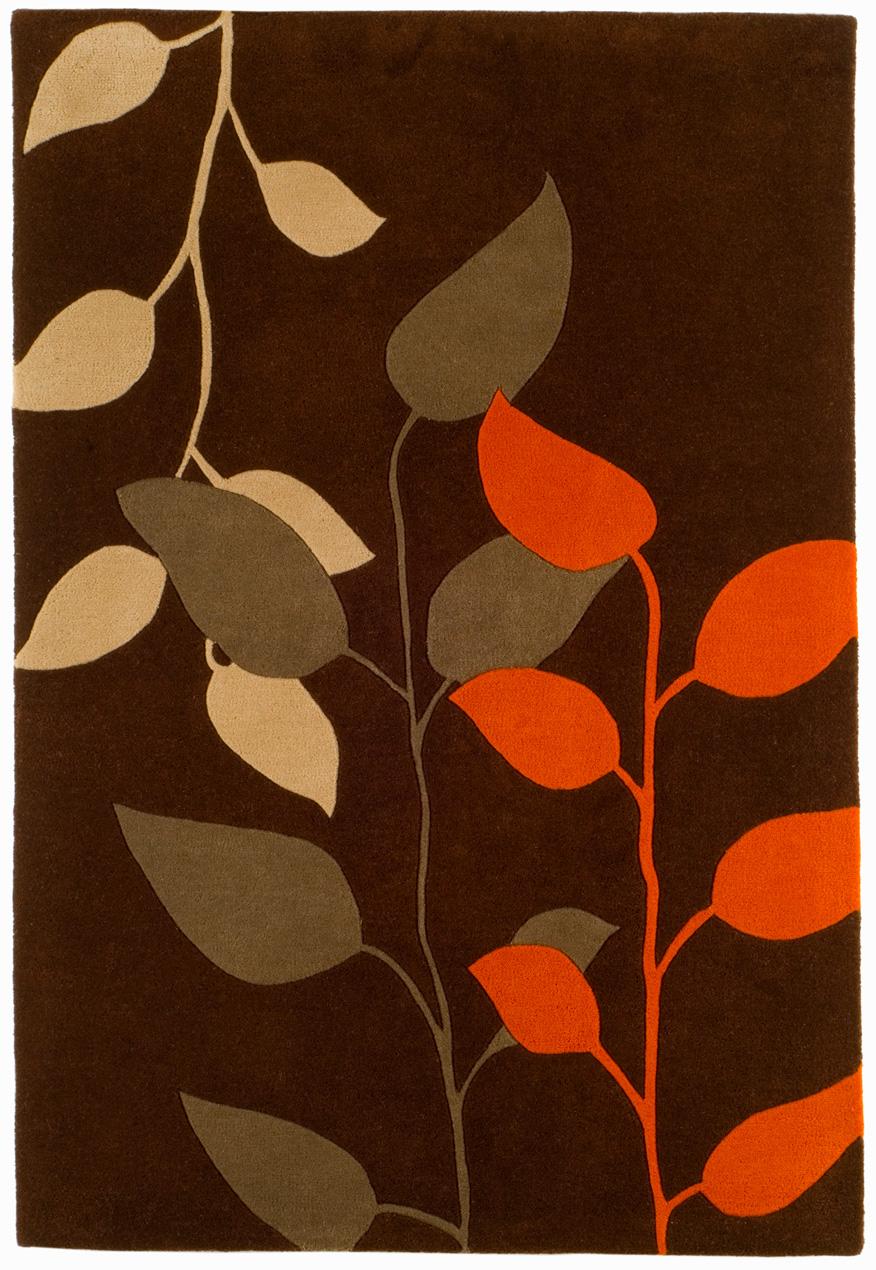 benuta designer teppich matrix wolle braun orange ebay. Black Bedroom Furniture Sets. Home Design Ideas