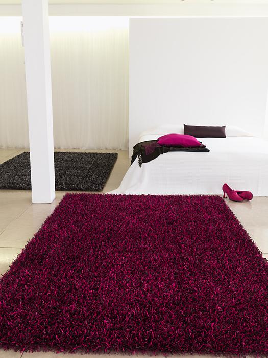 benuta hochflor shaggy teppich glamour violett lila neu. Black Bedroom Furniture Sets. Home Design Ideas