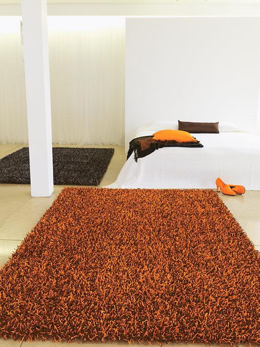 benuta hochflor shaggy teppich glamour orange neu ovp ebay. Black Bedroom Furniture Sets. Home Design Ideas