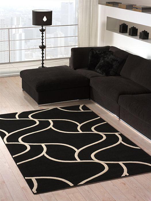 tappeti moderni bianchi e neri ~ idee per il design della casa - Tappeto Soggiorno Nero