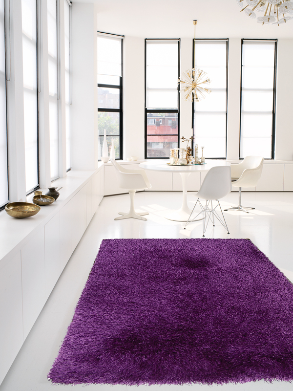 benuta hochflor shaggy teppich jersey violet violett lila neu ovp ab 19 95 ebay. Black Bedroom Furniture Sets. Home Design Ideas