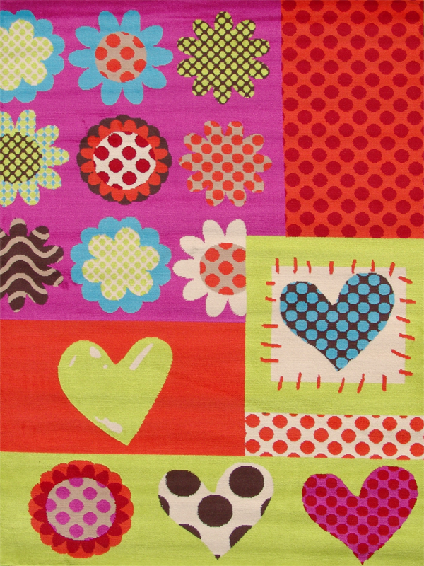 benuta kinderteppich first love herzen blumen bunt multicolor neu ovp ebay. Black Bedroom Furniture Sets. Home Design Ideas